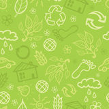 Environmental seamless pattern background Royalty Free Stock Photos
