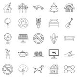Environmental standard icons set, outline style. Environmental standard icons set. Outline set of 25 environmental standard vector icons for web isolated on Stock Image