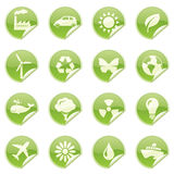 Environmental Stickers Royalty Free Stock Photography