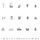 Environmental symbols icon set Royalty Free Stock Images