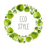 Vector illustration for environmental theme - eco style. royalty free illustration