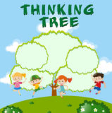 Environmental theme with thinking tree Royalty Free Stock Photo