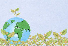 Environmental  Tree forming the world globe Royalty Free Stock Image
