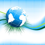 Environmental vector concept. Background with globe. Eps10 royalty free illustration