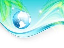 Environmental vector concept. Eps10. Environmental vector concept background with globe. Eps10 royalty free illustration