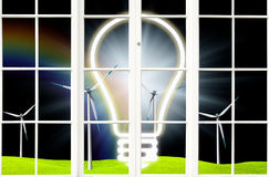 Environmental windmill Royalty Free Stock Photography