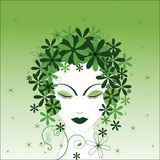 Environmental woman Royalty Free Stock Image