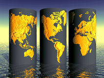 ENVIRONMENTAL WORLD GLOBE SET Royalty Free Stock Images