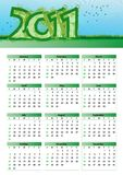 Environmentalism Calendar 2011 Stock Photography