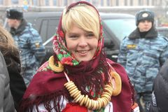 Environmentalist Evgeniya Chirikova Stock Image