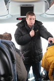 Environmentalist from Greenpeace Alexei Yaroshenko tells journalists about how important the Khimki forest Stock Images