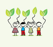 Environmentalists children Royalty Free Stock Photo