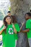 Environmentalists in park Stock Photography