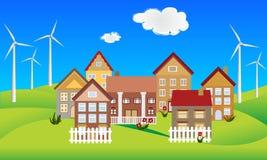 Environmentally conscious town Royalty Free Stock Image