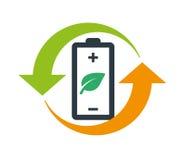 Environmentally Friendly Battery Logo Royalty Free Stock Image