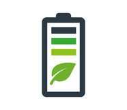 Environmentally Friendly Battery Logo Royalty Free Stock Image