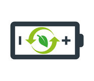 Environmentally Friendly Battery Logo Stock Photography