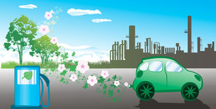 Environmentally friendly car Stock Images
