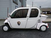 An environmentally friendly car at seward's waterfront Stock Photos
