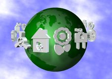 Environmentally friendly Earth Stock Image