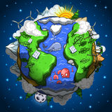 Environmentally friendly earth planet Royalty Free Stock Photos
