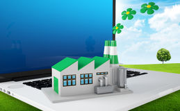 Environmentally friendly factory concept. Royalty Free Stock Photos
