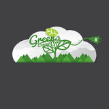 Environmentally Friendly Green Concept. Vector Illustration Stock Images