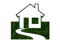 Environmentally Friendly Green Homes Stock Photography