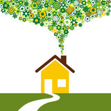 Environmentally friendly house Stock Photo