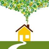 Environmentally friendly house Stock Photo