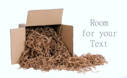 Environmentally Friendly Packing Material Royalty Free Stock Photography
