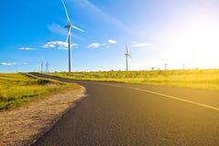Environmentally friendly power generation wind power turbines Stock Photos