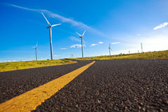 Environmentally friendly power generation wind power turbines Royalty Free Stock Image