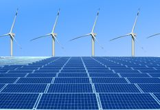 Environmentally friendly and renewable energy. View more environmentally friendly and renewable energy sources that do not pollute the human environment royalty free stock photo