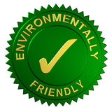 Environmentally Friendly Seal. Metallic seal with the words Environmentally Friendly Royalty Free Stock Photography