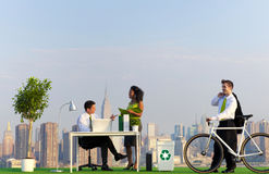 Environmentally Green Office in the City.  Royalty Free Stock Photography