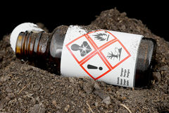 Environmentally hazardous waste. Royalty Free Stock Images