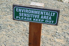 Environmentally Sensitive Area Sign Stock Image