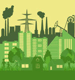 Environmentally symbols of urban lifestyles. Vector illustration Royalty Free Stock Photography