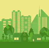 Environmentally symbols of urban lifestyles Royalty Free Stock Image