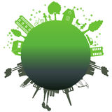 Environmentally symbols of urban lifestyles Royalty Free Stock Photography