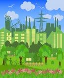 Environmentally symbols of urban lifestyles Stock Photos