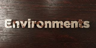 Environments - grungy wooden headline on Maple  - 3D rendered royalty free stock image Stock Photography