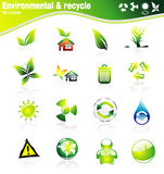 Environmetal Icon Set Stock Photo