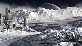 Environnement éloigné de planète de glace Photographie stock libre de droits