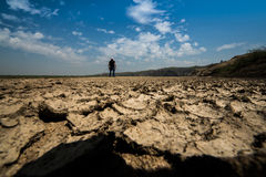 Environnement de crise de terre de sécheresse Images stock