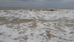 Environnement de jet d'accident de mouvement lent de tempête de vague de ‹d'†de ‹d'†de mer ambiant banque de vidéos