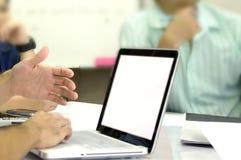 Environnement de réunion d'affaires Image stock