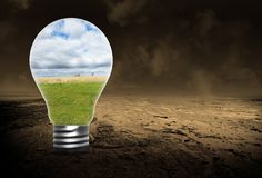Environnement, environnementalisme, énergie verte, ampoule images stock