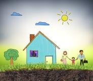 Environnement modèle de logement de maison illustration de vecteur